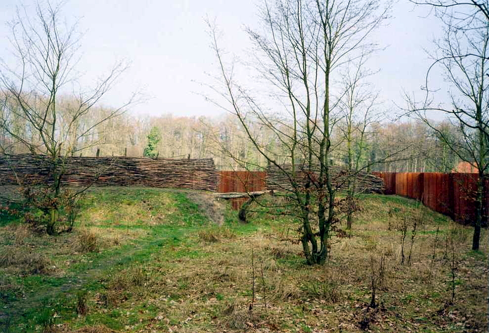 reconstruction of walls used by Germans to block Romans