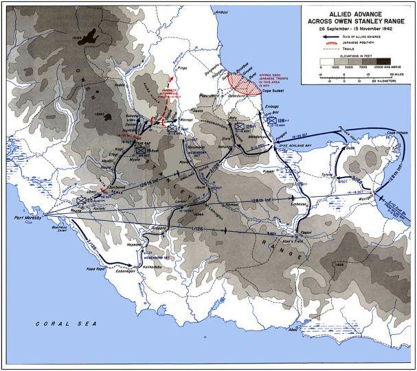 thebattlecast Australian and American advance