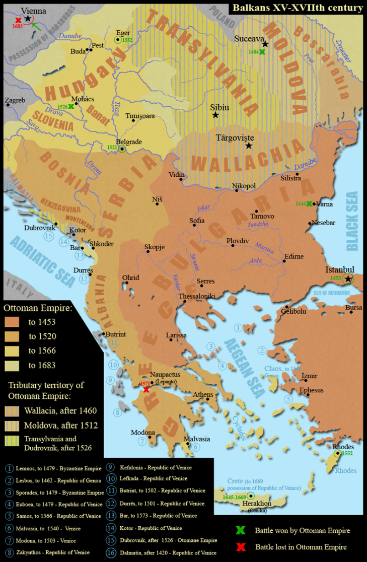 Map of the balkans dracula