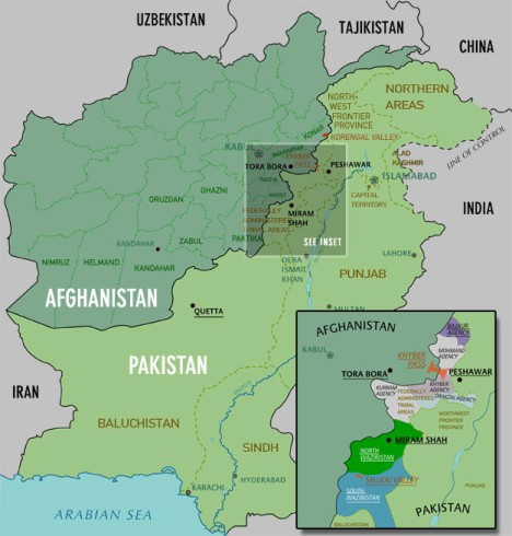 korengal valley area map