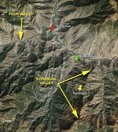 korengal valley topography
