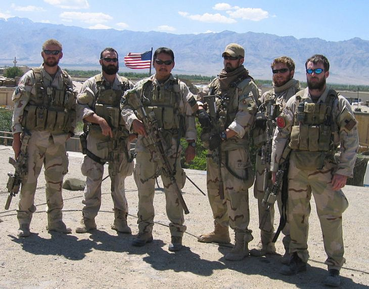 (L to R) Matthew Axelson, Daniel Healy, James Suh, Marcus Luttrell, Eric Patton, Michael Murphy operation redwing