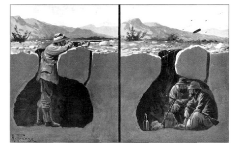Boer War Crosssection of Boer Trenchworks