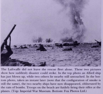 Allied ship blown up by Luftwaffe