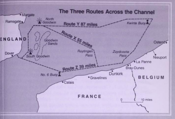 Escape routes from the beaches battle of Dunkirk