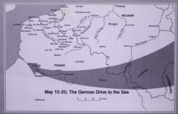 German drive to the sea battle of Dunkirk