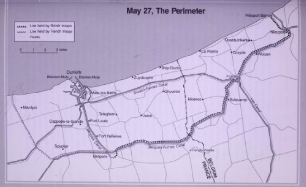May 27 the perimeter of Dunkirk notice the shrinking of the front